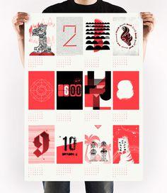 calendar 2013 - upstruct on Behance #illustration #calendar #screenprint
