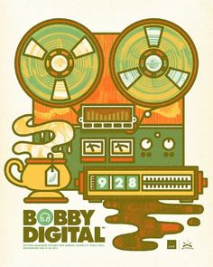 Bobby Digital - Brett Peter Stenson #robert #design #brett #poster #stenson #logo #walker #typography