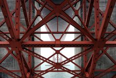 Main #architecture #red #fog #bridge #architecture #red #fog #bridge