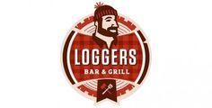 Loggers Bar & Grill Branding | Restaurant branding #beer #loggers #plaid #lumberjack #food #logo #flannel
