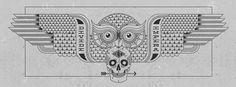 Pavlov_divide_et_impera_detail #white #owl #black #and #skull