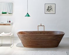 Delicate bath supplies made from aromatic walnut - www.homeworlddesign. com (3) #furniture #walnut #bathroom