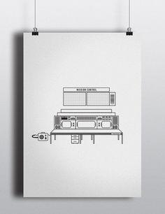 S P ___ C E on Behance #line #saturn #whitespace #orbit #clean #mars #spaceship #illustration #stars #white #stroke #minimalist #planets #jupiter #nasa #space #armstrong #mission #sun #satellite #hubble #astronaut #black #rocket #drawing #control #moon