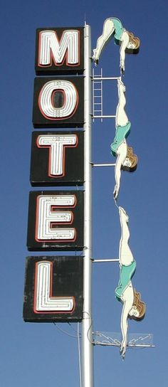 old motel sign #sign #motel #vintage