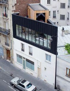 Saganaki House Employs Independent Construction Atop Existing Building In Paris