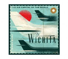 Wichita - The Everywhere Project #airplane #label #tag #vintage #perfect