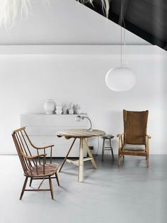 April and May: Est Magazine #interior #chair #light #white