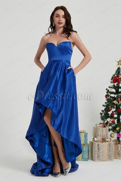 eDressit Royal Blue Corset Long Back Train Party Evening Dress (02200605)
