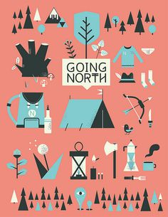 going north #illustration