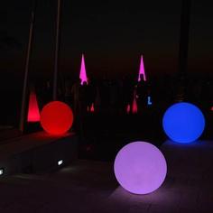 Waterproof Modern Home Led Floating Glow Ball Diameter 20cm 25cm 30cm 35cm 40cm