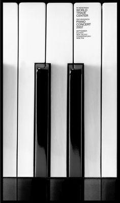 ICOGRADA | IN MEMORIAM: WORLD TRADE CENTER #poster #memoriam #concert #piano #world trade centre