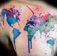 25 Awesome Map Tattoos #map #tattoos
