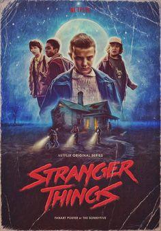 Stranger Things - Retro Poster