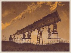 DKNG Studios #sepia #geese #telescope