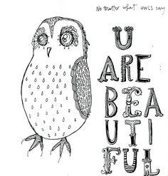 Cìnzyay #illustration #owl #moleskine #cinzyay