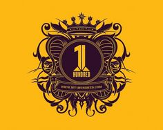 1hundred Branding on the Behance Network #logo #numerals #gold #1 hundred