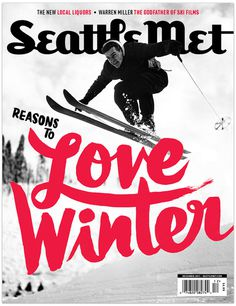 Love Winter #magazine #typography