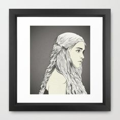 Daenerys Targaryen on the Behance Network #print #design #graphic #women #illustration