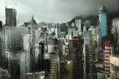 Glistening Hong Kong in the Rain Photos by Christophe Jacrot