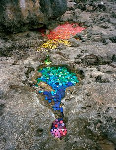 garbage, installation, color, rainbow #rainbow #color #garbage #installation