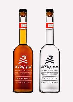Rum bottles.