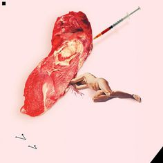 Forgotten-hopes #meat #illustration #collage