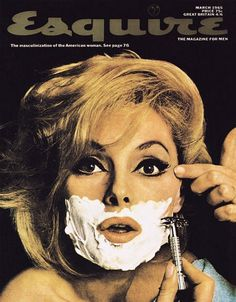 Vintage Esquire magazine cover. March 1965 #cover #esquire #vintage #magazine