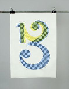 1,2,3 James Huyton Artist/Illustrator/Designer #poster #typography