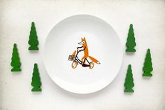 sweetsmania:(via Fox plate by kokokoshop on Etsy) #fox