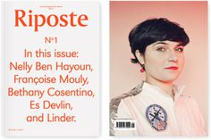 Riposte Magazine #cover #print #book
