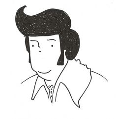 All sizes | elvis | Flickr - Photo Sharing! #illustration #person #drawing #elvis