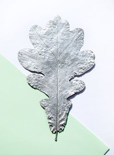 Silver leaves // Christmas decorations #leaf #spraypaint #colors #silver