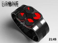 Drone LED Quad turbine Effect Watch