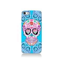 Blue Sugar Skull iPhone case #phonecase #design