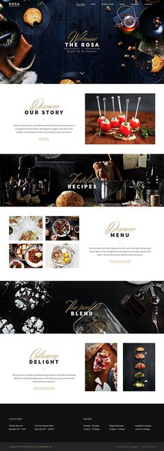 ROSA - An Exquisite Restaurant WordPress Theme on Behance #web design