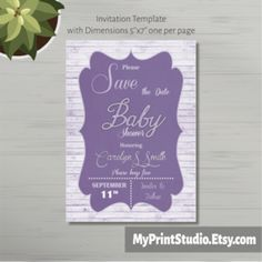 Creative Baby Girl Save the Date Shower Card Template for Word, Cool Girl Shower Card Template, Newborn baby invitation template. Printed or