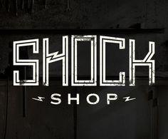 Shock Shop - Leigh Anne Zeitouni #shock #electric #branding #shop #rugged #bolt #lightning #grunge #logo