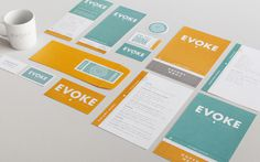 Evoke coffee eatery stationery
