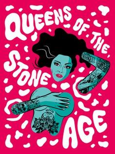 Queens of The Stone Age gig poster Ashwin Kandan / Shwin
