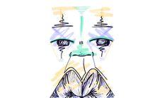 #12 / nonchalant / 220314 by Chiamaka Ojechi #illustration #pastel #lips #markers #minimal