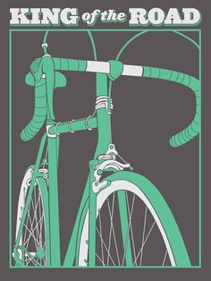 King of the Road by Brainstorm #kind #bicycle #road #illustration #king