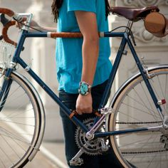 This bicycle handle is the perfect tool to get around places that your wheels won't take you. It reduces the weight, letting you simply lift and go. #