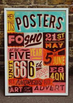 Typeverything.comHand painted posters sign by Telegramme.