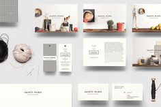 Beautiful Brand Identity Design - Clean and Simple #branding #print #design #identity #textile