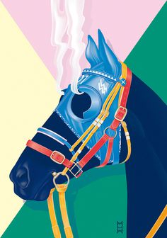 SOIRÉE GRAPHIQUE Nº6 / 'Hard Race, Steaming Horse' - www.vicentegarciamorillo.com #poster