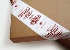 Szelet   Lovely Package #slice #minimal #pizza #type #typography