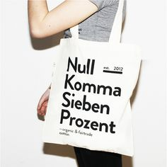 Nullkommasiebenprozent #fashion #bag #textile #typo