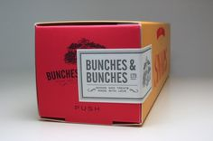 Bunches and Bunches Snaps Cookie Packaging #embossing #branding #touch #letterpress #box #soft #slide #cookies