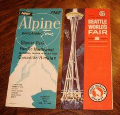 1962 Seattle World's Fair Tour Brochures #vintage #brochure