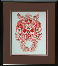Chinese Paper Cut Art Chinese Paper Cut Opera Mask by Yu Zhong Hou #cut #paper